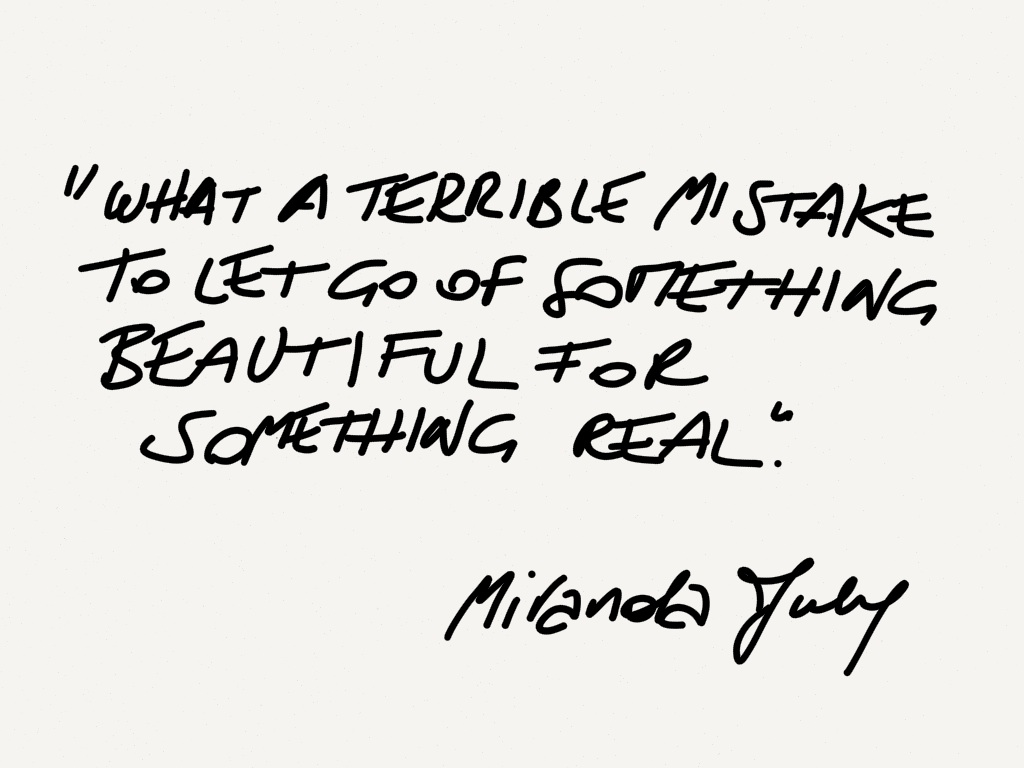 Miranda July something beautiful